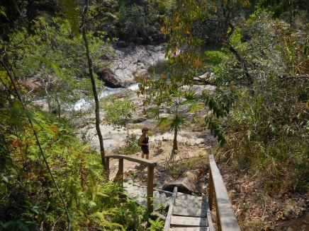 Stairway down to Big Rock Falls