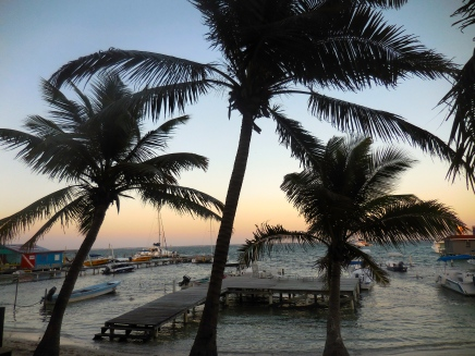 On the beach at San Pedro, Belize