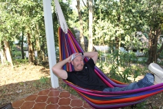 Relaxing at Maya Mountian Eco Lodge