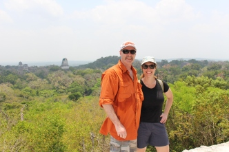 At the top of Temple IV, Tikal, Guatemala